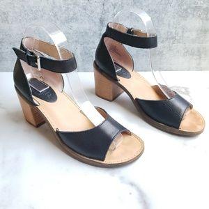 Latigo Leather Ankle Strap Sandals Heels
